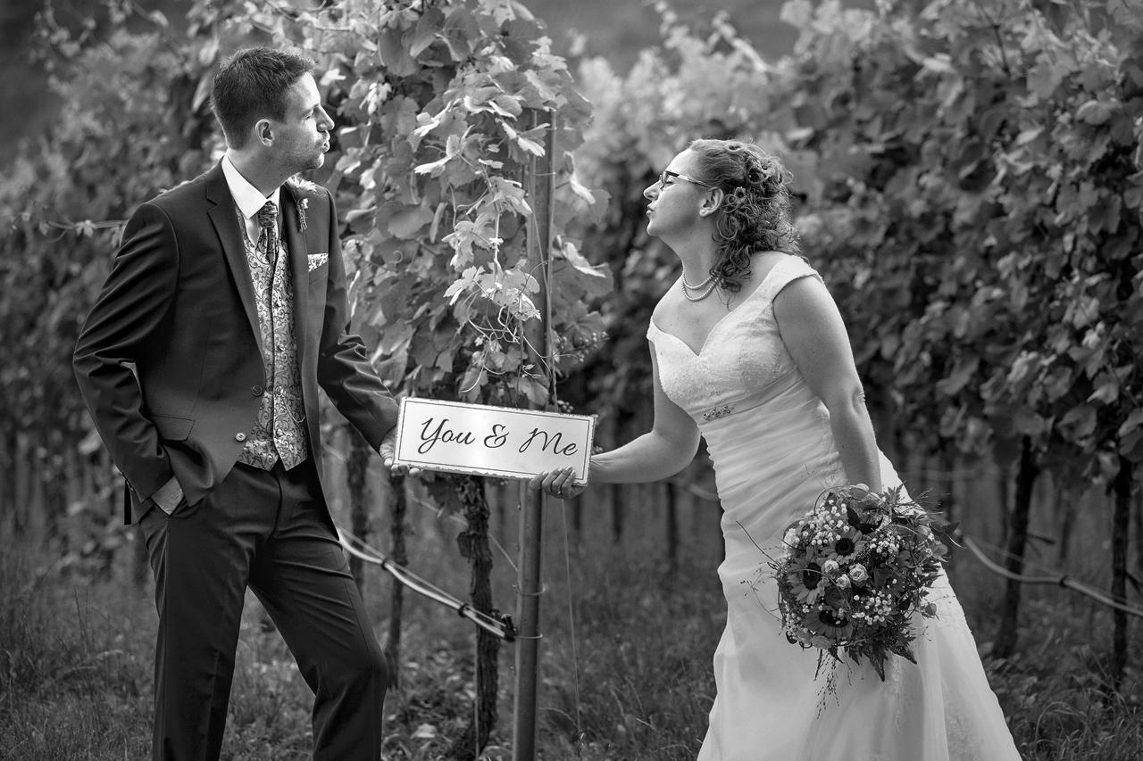 Hochzeitsfotos in Gerolzhofen im Weinberg