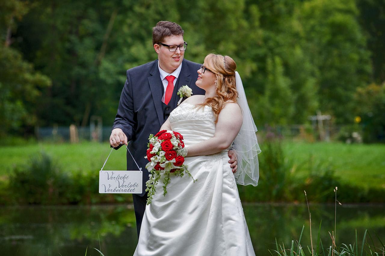 Hochzeitsshooting am See in Arnstein