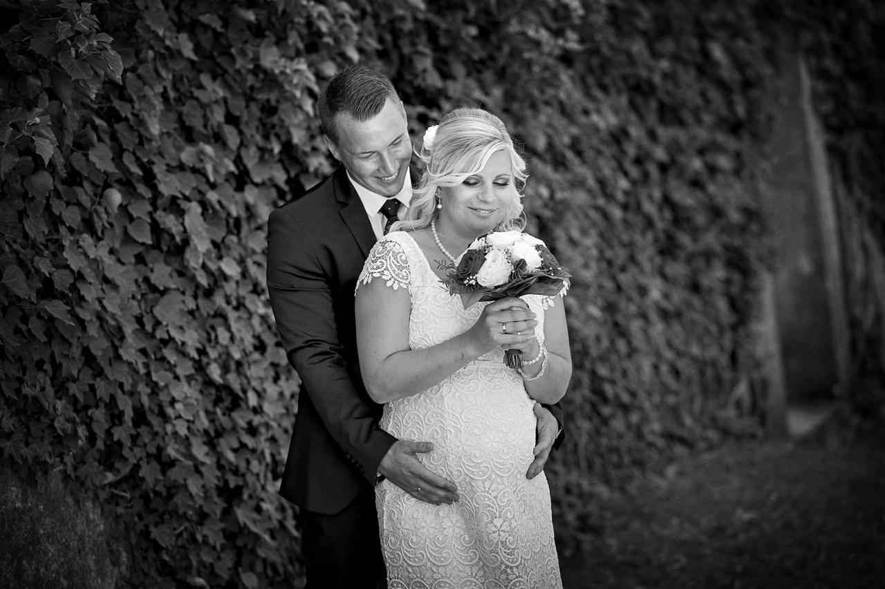Schwarzweiß Hochzeitsfoto in Karlstadt