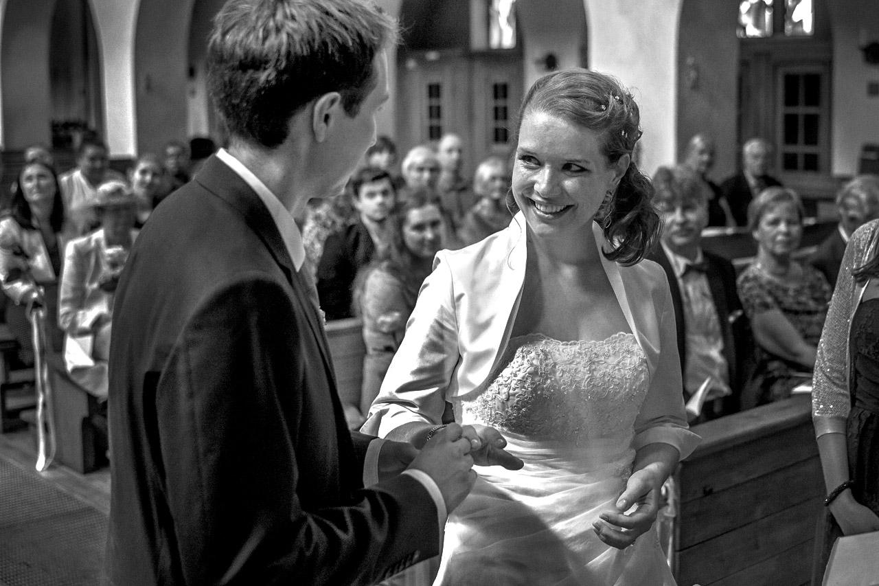 Hochzeitsfoto in Kirche Veitshöchheim