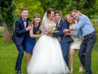 Gruppenfotos für Hochzeit